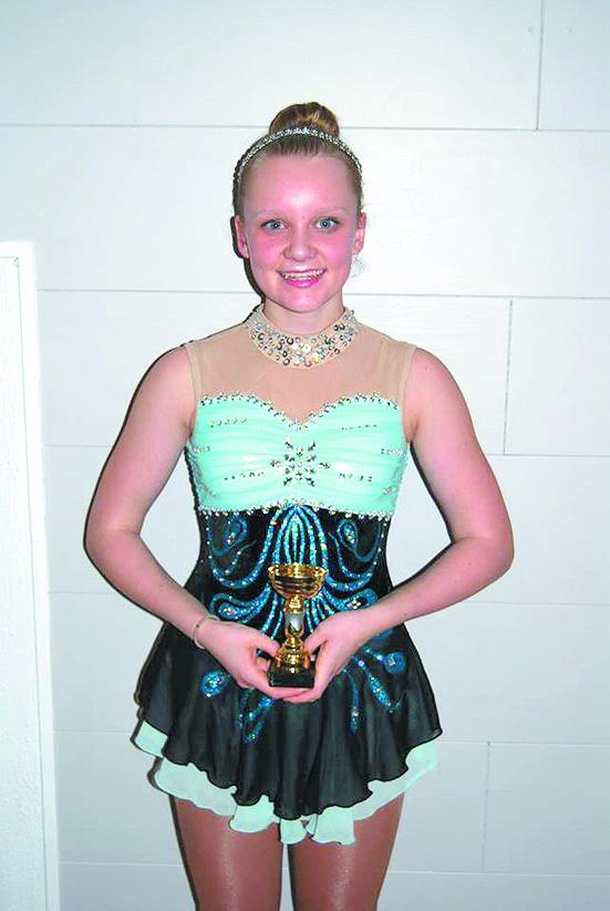 Maria Lægdene Næss har etter bare ett års trening plassert seg blant Norges beste kunstløpere i klassen Cubs over 12 år.