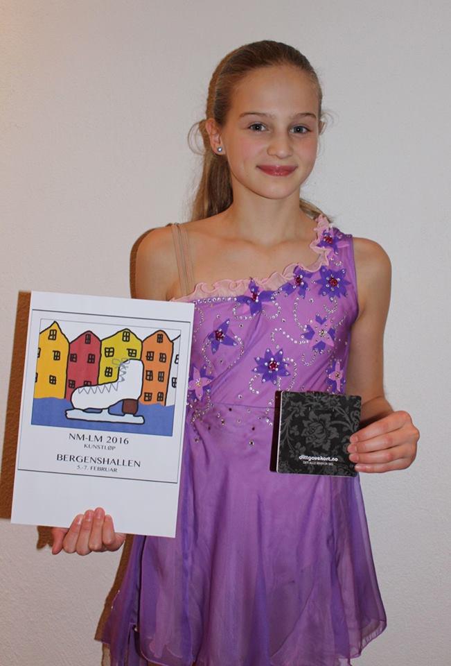 Marie Pryme Hystad har tegnet mesterskapslogoen til NM-LM i Bergenshallen i februar.