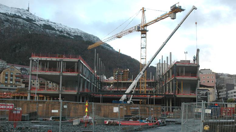 Kunst- og designhøgskolens nybygg reiser seg i Møllendal