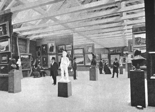 Statens Kunstutstilling ble i 1886 holdt i Ekserserhuset. Både pressen og kunstnere i Christiania var irritert over at Bergen hadde fått Høstutstillingen. Noen mente at «bygdehensynet» hadde gjort seg for sterkt gjeldende.