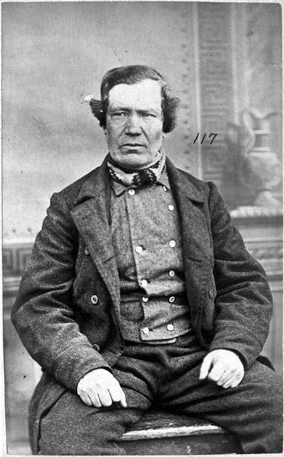 Jakob Alexander Jakobsen Wallin. Fotografi i arkivet fra Botsfengslet, Riksarkivet.