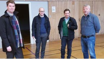 Byråd Erlend Horn besøkte Landås mottak