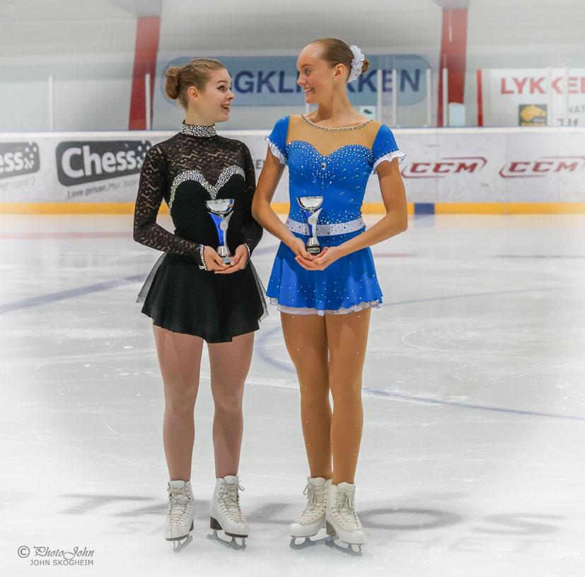 I juniorklassen ble Thea Karlstad nr. 2 og Silja Anna Skulstad Urang nr. 3. Foto John Skogheim.
