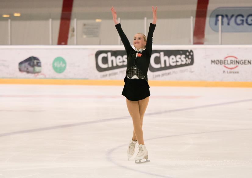 I klassen Novice fikk Ingrid Louise Vestre (14) en strålende førsteplass.