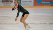 Ingrid Louise Vestre ble best i klassen Novice i Norgescup 2 i kunstløp i Stavanger. Foto Hans Petter Vestre.