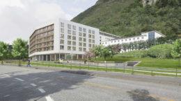 Haraldsplass er nestbest på overlevelse blant norske sykehus. Illustrasjonen fra C. F. Møller viser nybygget som skal være klart til bruk i 2018.