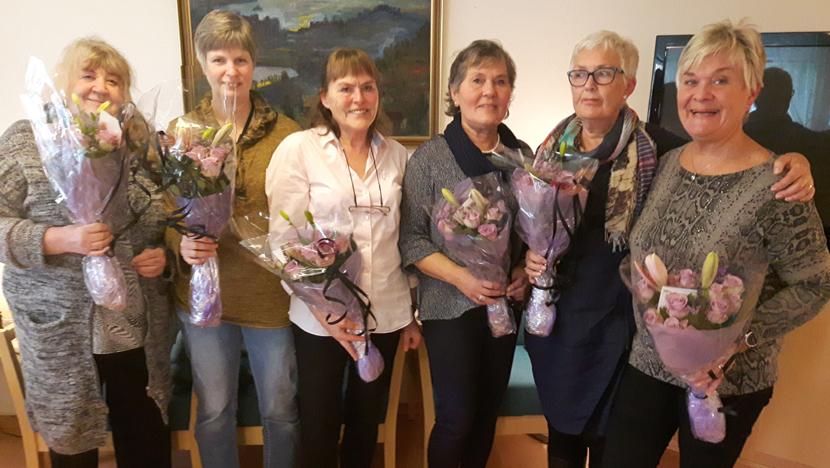 25-års jubilant og nybakte pensjonister i hjemmesykepleien sone Landås
