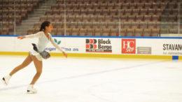 Klara Arima Blitzner vant sølv i klassen Basic i Norgescup 3 i helgen. Foto: Serine Blitzner.