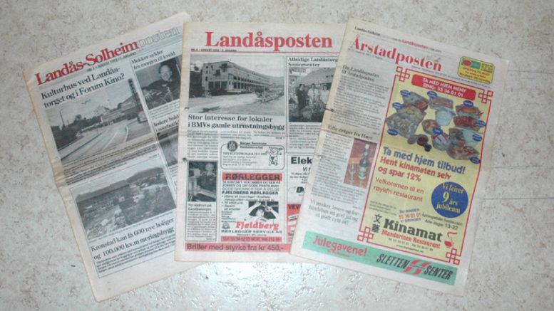 Samme avis, men ulike navn gjennom tidene: Landås-Solheimposten (1993-95), Landåsposten (1995-2001) og Årstadposten (2001-).