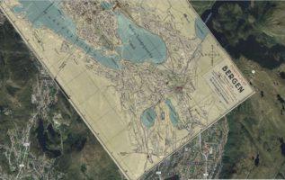 Se Bergen anno 1920 forandre seg til dagens by på Google Earth og Google Maps