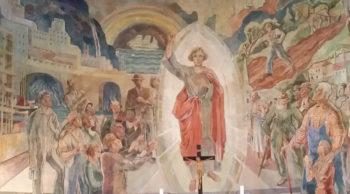 Brukte levende modeller fra strøket i alterbildet i St. Markus kirke