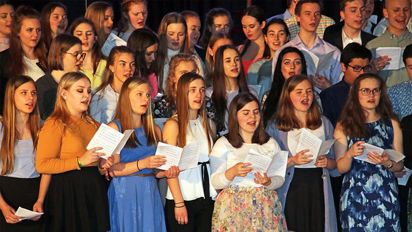 Musikklinjen på Langhaugen med jubileumskonsert i Håkonshallen