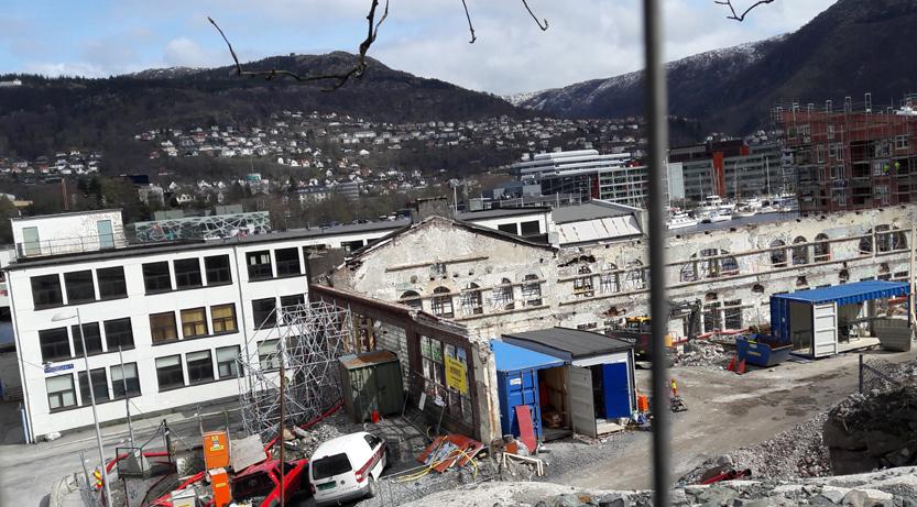 Fasaden til Bergen Blikktrykkeri blir del av nytt byggkompleks