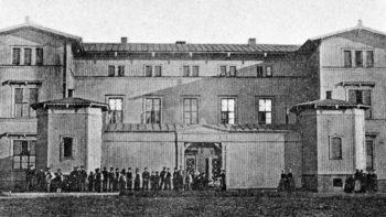 Dette er første kjente fotografi av bygning i Bergen
