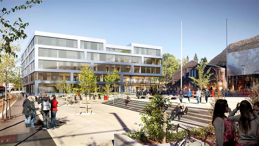 «Edens hage» - nytt høyskolebygg for 2500 elever og ansatte på Kronstad