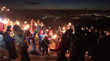Fakkeltoget på Løvstakken for tredje gang 26. november