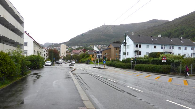 Nattlandsveien skulle omskapes til en moderne bygate