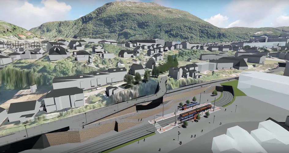Presentasjon av to gigantprosjekter for Bybanens Linje 2