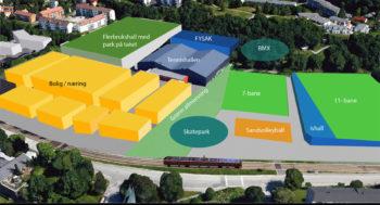 600 – 800 boliger kan bygges ved ny «idrettsby» på Slettebakken