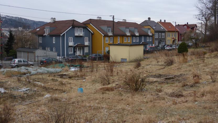 Parsellhagen blir en kjempestor byggegrop, 7 til 9 meter med løsmasser