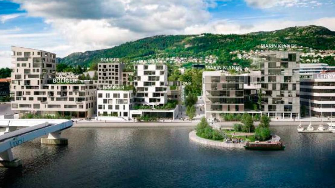 400 – 450 boliger og 85.000 kvm næringsbygg foreslås ved Damsgårdssundet