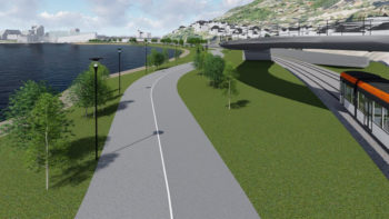 Sykkelvei uten konflikt med gående mellom Nygårdstangen og Møllendal
