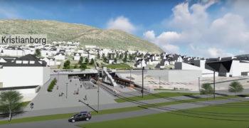 Fjøsangerveien skal bygges om til bro over Kristianborg holdeplass