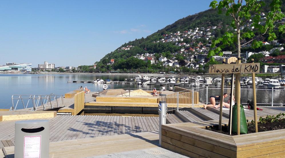 Ikke stup eller hopp i vannet i Møllendal