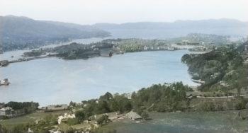 Knud Knudsens panorama fra Haukeland ca. 1890