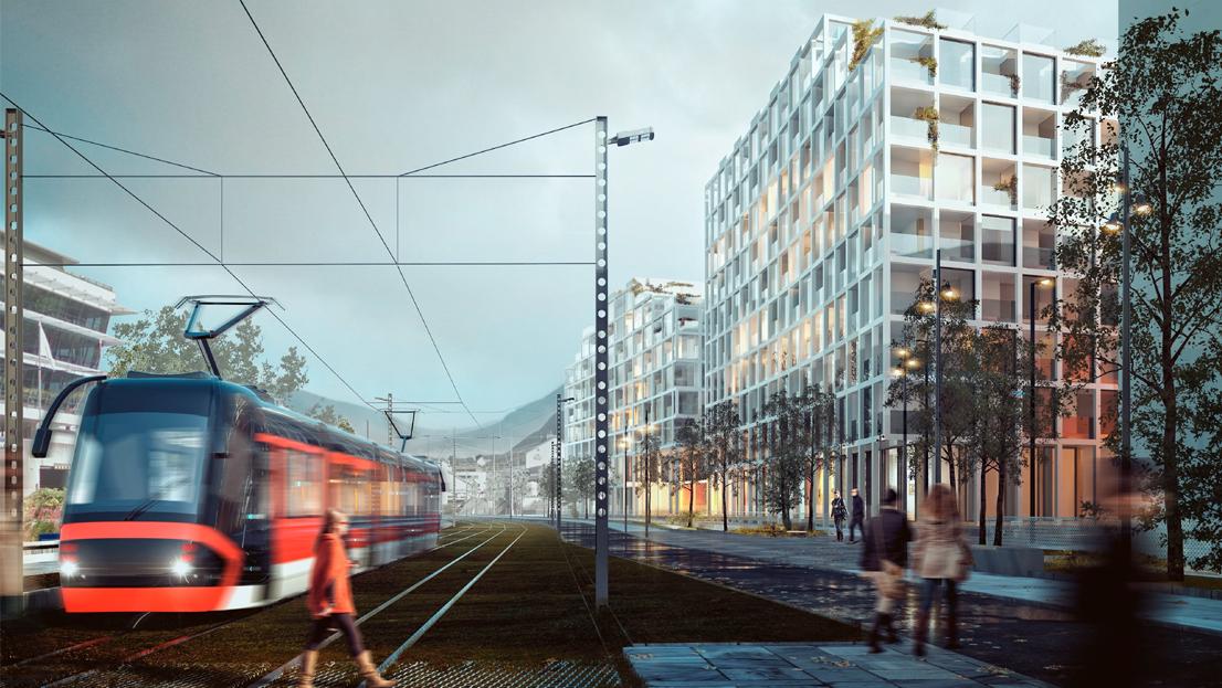 238 boliger, barnehage, NLA Høgskolen og kafé på Martens-tomten