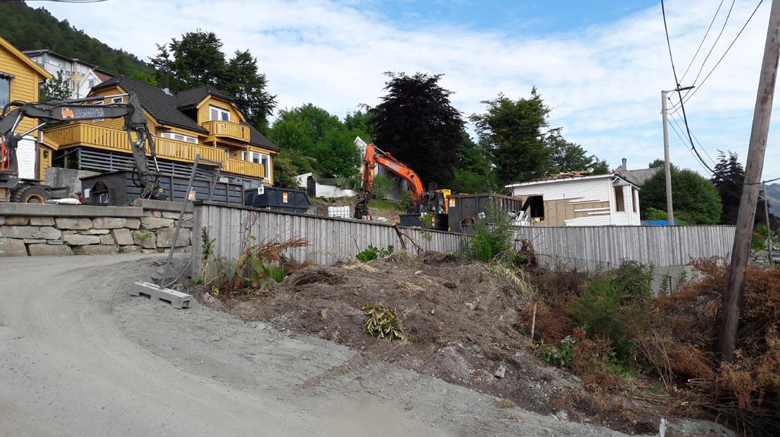 Kristianborg: tre boliger rives, blir park når Bybanen er klar