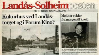 25 år siden første utgave av Landås-Solheimposten