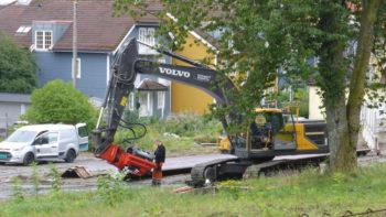 I startgropen før anleggsarbeidene på Bybanen tar til for alvor