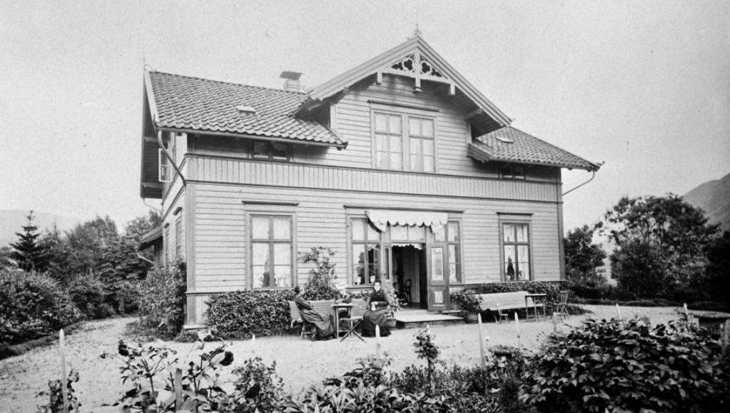 En trapp er eneste minne om eiendommen Fagerheim