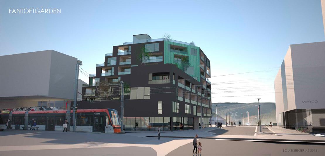 Ønsker reduksjon fra 55 til 41 leiligheter på Fantoft