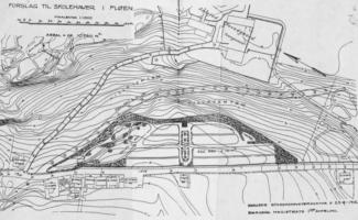 Planla villaområde på oppsiden av skolehagen i Fløen