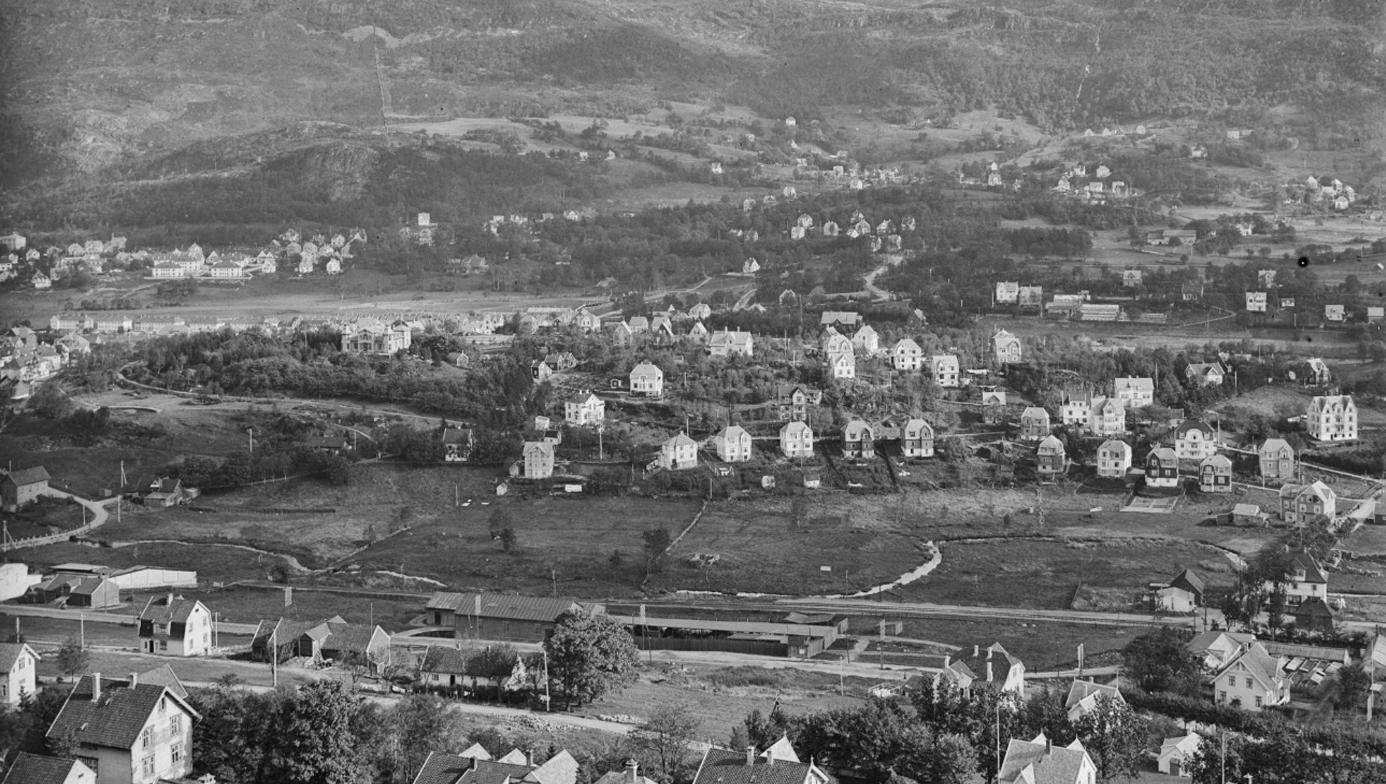 Bergensdalen for om lag hundre år siden