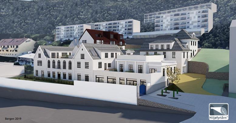 Vinfabrikk og nybygg kan gi 35 boliger i Gyldenprisveien