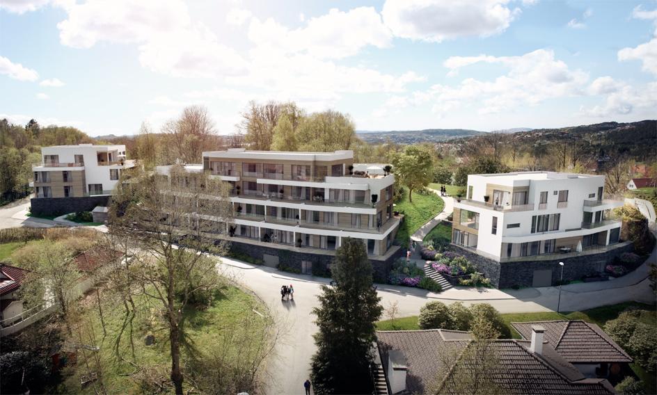 Plan godkjent for ca. 50 boliger i Kråkehaugen på Fantoft