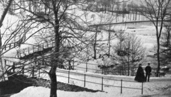 Vinter i Møllendal på 1860-tallet