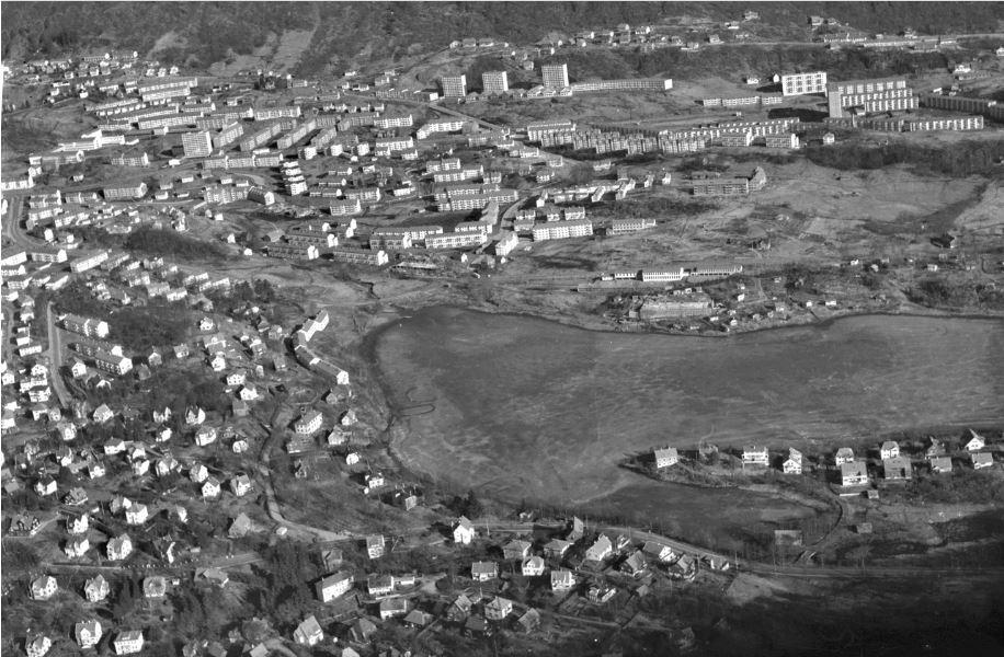 Slettebakken på midten av 1950-tallet