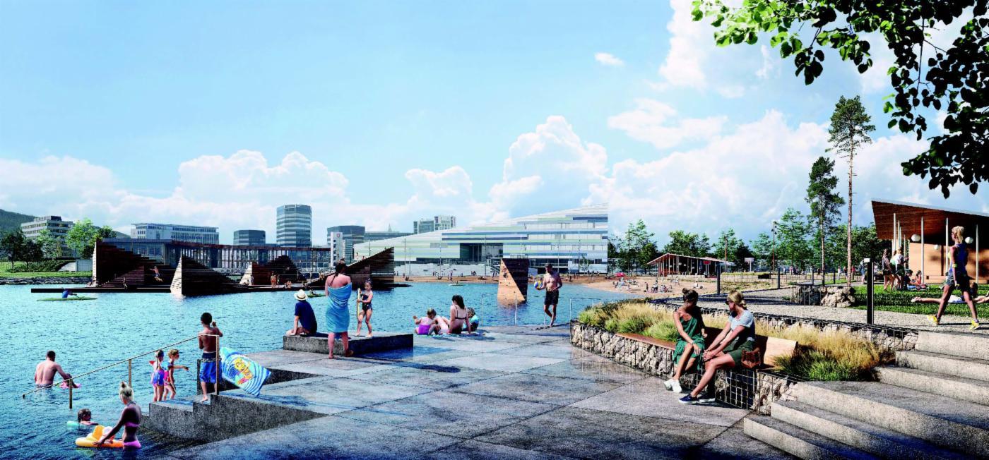 Nå kan du se forslagene til ny bystrand og park ved Store Lungegårdsvann
