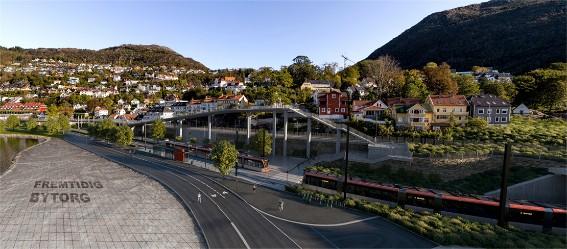 Kompliserte anleggsarbeider ved jernbanebroen i Fløen