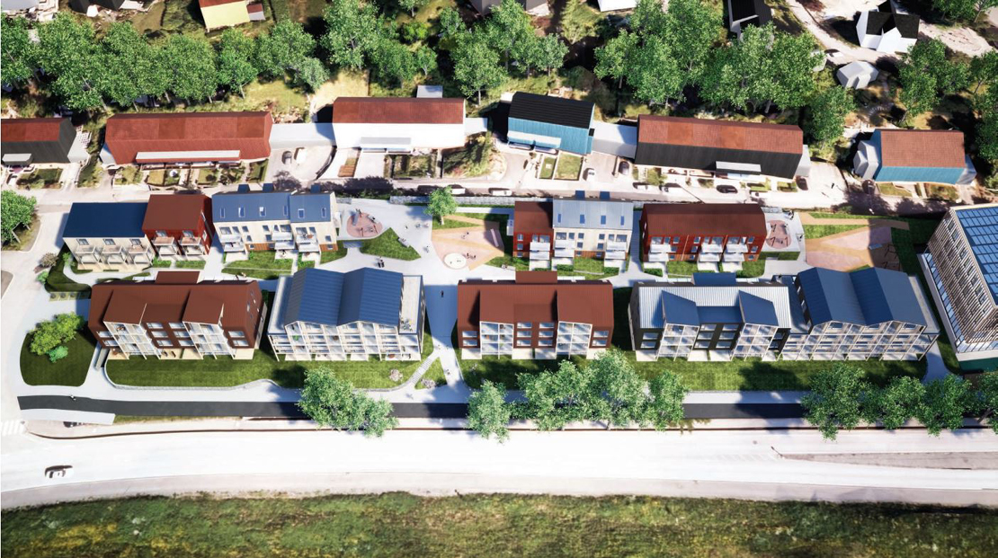 Foreslår 110 boliger og næringsbygg i Vestre Fantoftåsen