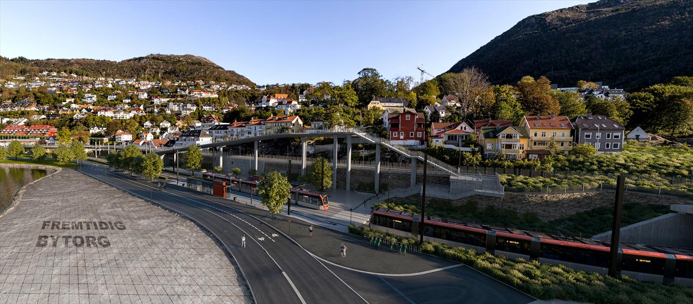 Slik blir de nye bybaneholdeplassene i Årstad