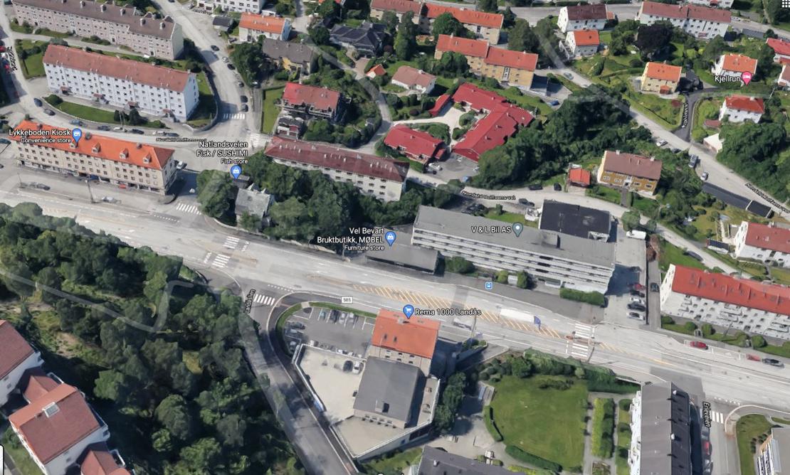 Utbygging vil gi 38 nye leiligheter i Nattlandsveien