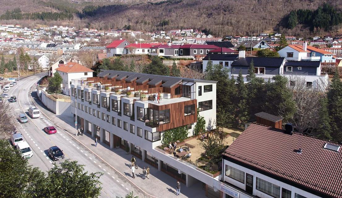 Fra parkeringsplass til åtte funkisboliger i Hagerups vei